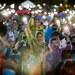 Pro-democracy protesters light up their mobile phones as they attend a mass rally in Bangkok to call for the ouster of Prime Minister Prayuth Chan-o-cha's government and reforms to the monarchy, Sept. 19, 2020.