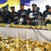Malaysian Customs officials display 1,187 kilograms of seized methamphetamine, valued at 71 million ringgit ($17.8 million), during a news conference in Nilai, Malaysia, May 28, 2018.