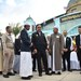 Thai Prime Minister Prayuth Chan-o-cha (center) meets with Muslim religious officials during a visit to Narathiwat Islamic Committee in Narathiwat, a province of Thailand's troubled southern border region, Jan. 20, 2020.