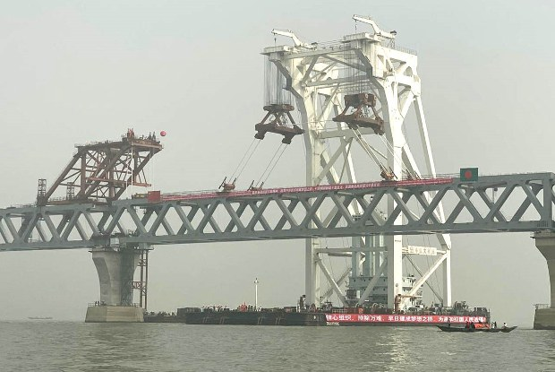 Bangladesh Installs Last Span of Ambitious, Chinese-Backed Bridge Project
