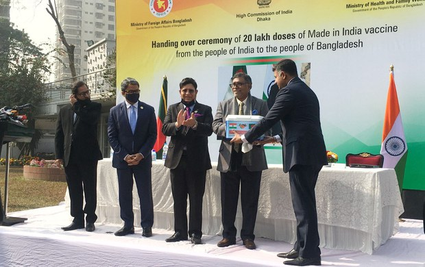 Bangladesh Gets First Batch of COVID-19 Vaccines – as Gift From India