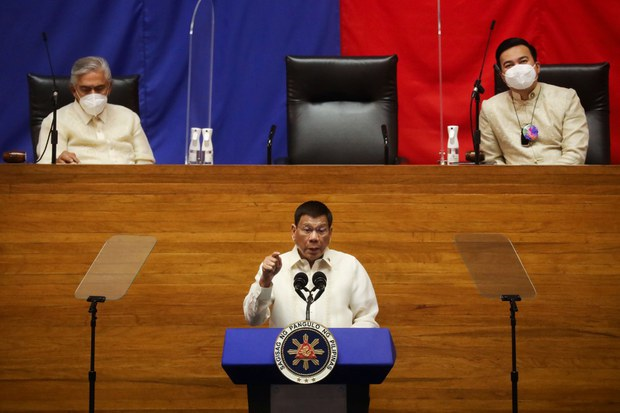 Philippine Leader Defends China Diplomacy in Last State of Nation Speech