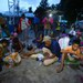 Evacuees break their fast during dusk at a temporary shelter in Datu Paglas, a town in Maguindanao province, southern Philippines, May 12, 2021. Dozens of families have sought shelter here after BIFF militants attacked the town at the weekend.